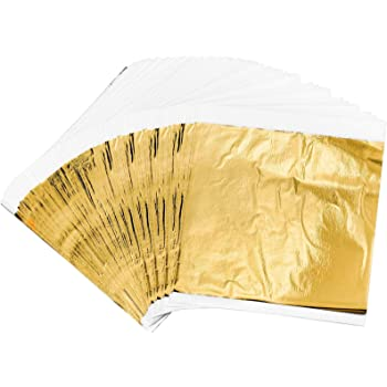 oro argento rame Ultnice doratura fogli lamina foglia imitazione fogli doratura per decorazione fai da te 300PCS