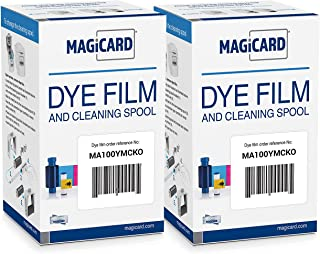 2 x Magicard MA100YMCKO Color Ribbon - YMCKO - 100 Prints with Bodno Software Demo