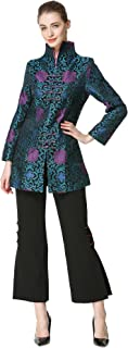 Bitablue Women's Chinese Brocade Standup Collar Jacket