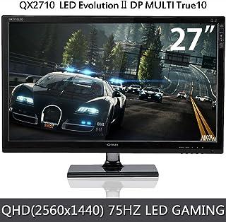 QNIX 27型ワイド LED液晶ディスプレイ/ゲーミングモニター/QHD(2560x1440)4K/HDMI/75Hz(QX2710 DP MULTI TRUE10/QXMO2711)