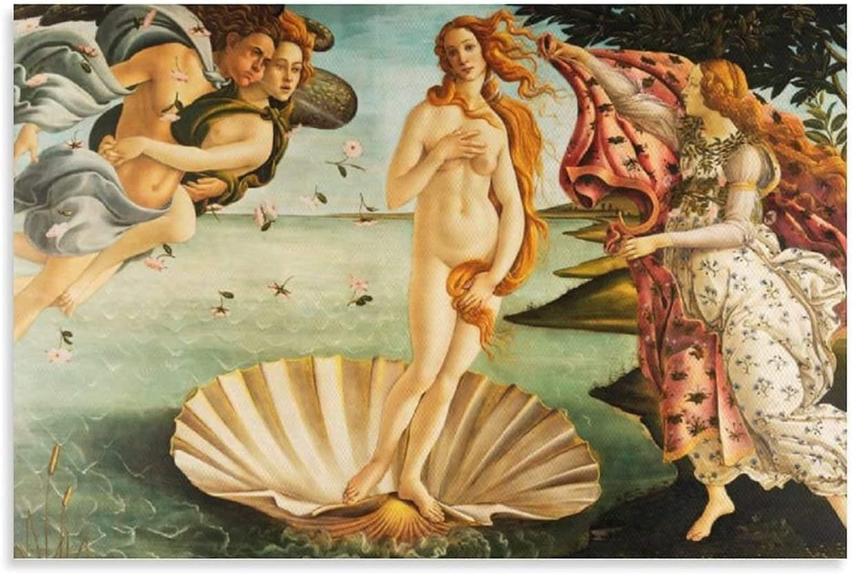 Canvas Wall Max San Antonio Mall 80% OFF Art Painting Birth of Fine for H Venus Oil Paintings