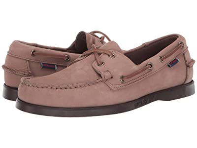 Sebago Dockside Portland Nubuck (Almond/Dark Brown) Men