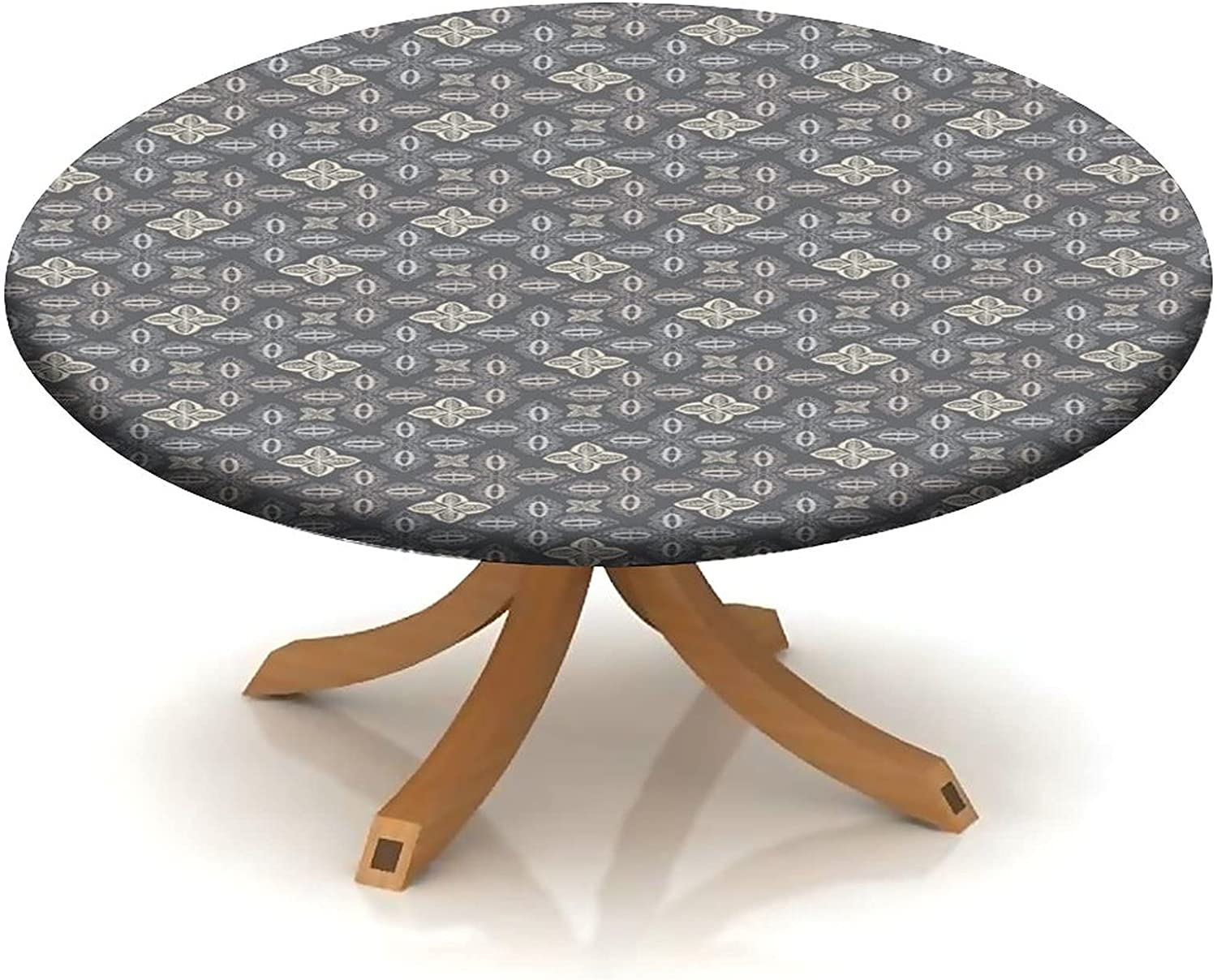Very popular! Fitted Tablecloth for Max 64% OFF Round Table Abs Bohemian Shapes Ornamental