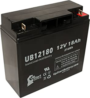 SEALAKE FM12170 Battery - Replacement UB12180 Universal Sealed Lead Acid Battery (12V, 18Ah, 18000mAh, T4 Terminal, AGM, S...