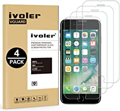 iVoler Verre Trempé pour iPhone 8, iPhone 7, iPhone 6S, iPhone 6,[Pack de 4] Film Protection écran - Anti Rayures - sans Bulles d'air -Ultra Résistant (0,33mm HD Ultra Transparent) Dureté 9H Glass