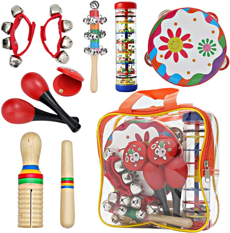 Kids Musical Set Luxury Toys Drum Percussion Instruments Don't miss the campaign Multifun 12pcs