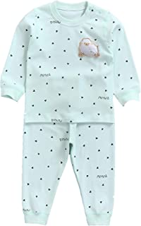 MuYwa Baby Pajamas Boys Girls Unisex 2 Piece Pjs Set Snug Fit 100% Cotton Kids Sleepwear