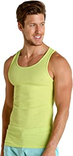 South Beach Ribbed Tank Top Citron