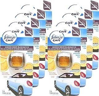 Febreze Car Vent Clips Smoke Odor Eliminator, Fresh Citrus Scent, (Pack of 8)