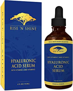 Pure Hyaluronic Acid Serum For Face with Vitamin C, Vitamin E Oil, Aloe Vera Plant, Witch Hazel Toner - Best Anti Aging/wrinkle Face Serum, Eye Cream, Acne Treatment, Pore Minimizer, Face Moisturizer