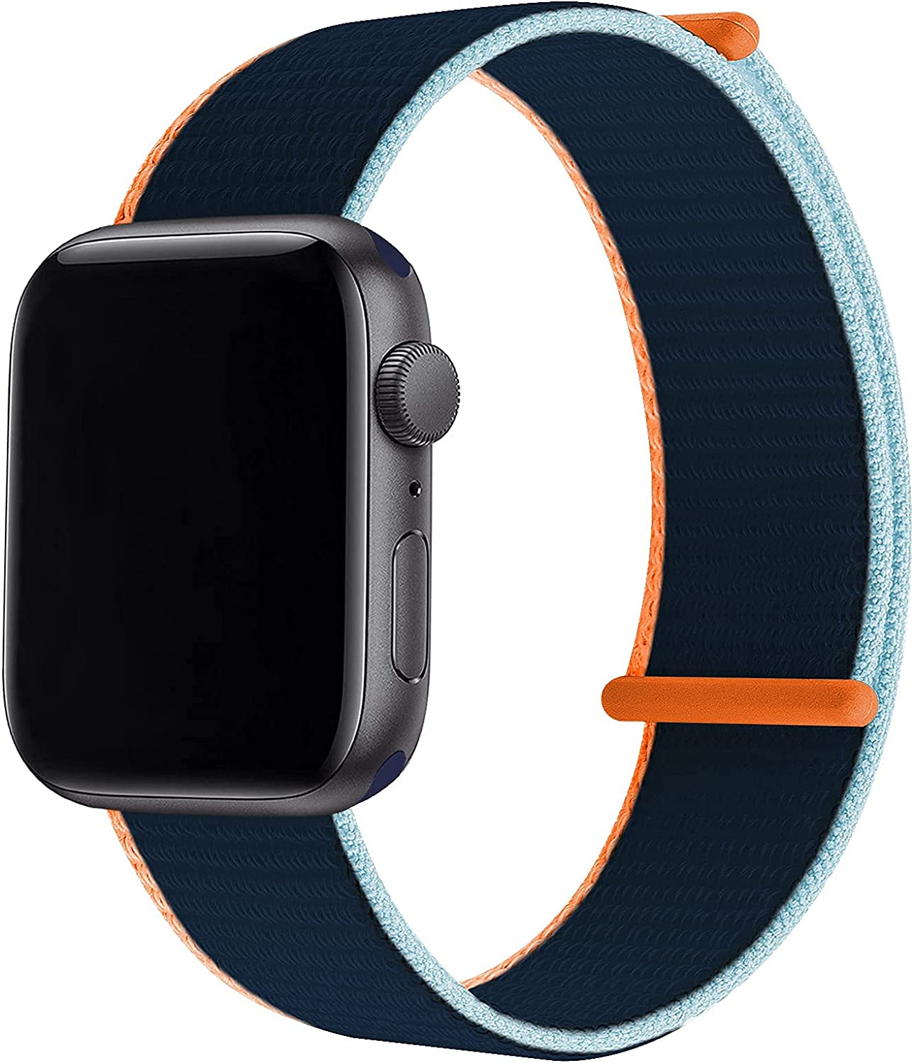 WETAL Velcro Nylon Strap Compatible with Apple Watch Sports Band 44mm 40mm 42mm 38mm, Soft Adjustable Lightweight Replacement Wristbands for iWatch Series 6 5 4 3 2 1 SE