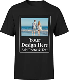 Customize Shirts for Women Men Custom T Shirts Design Your Own Crew Neck Mens Womens Personalized Tshirts