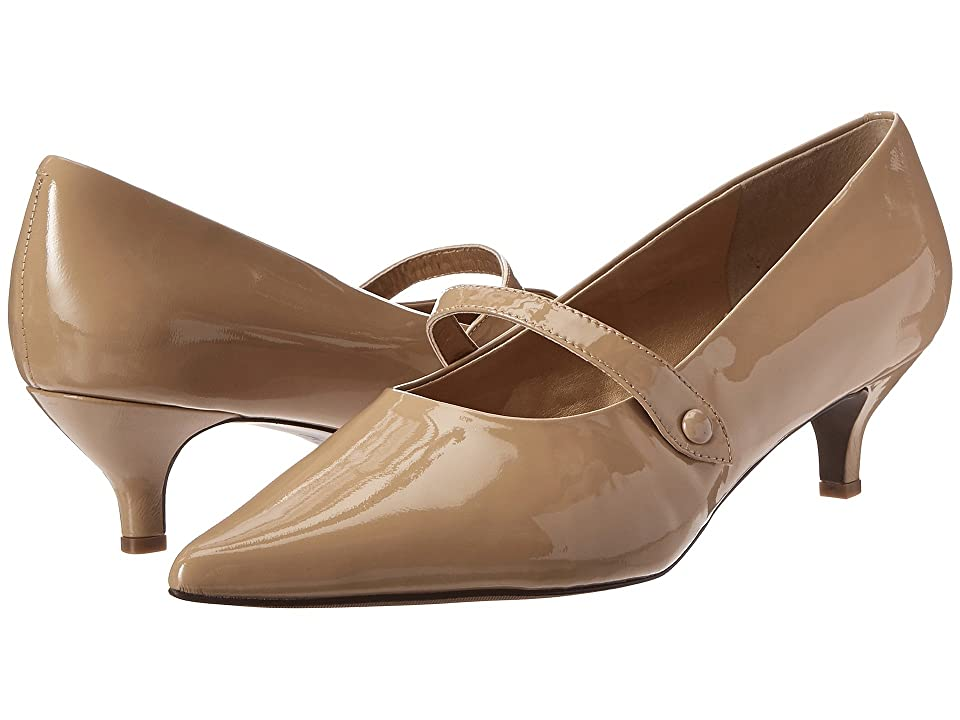 Trotters Petra (Nude Patent Leather) Women