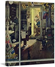 Marmont Hill 30x36 Shuffleton's Barbershop by Norman Rockwell Painting Print on Wrapped Canvas, 30
