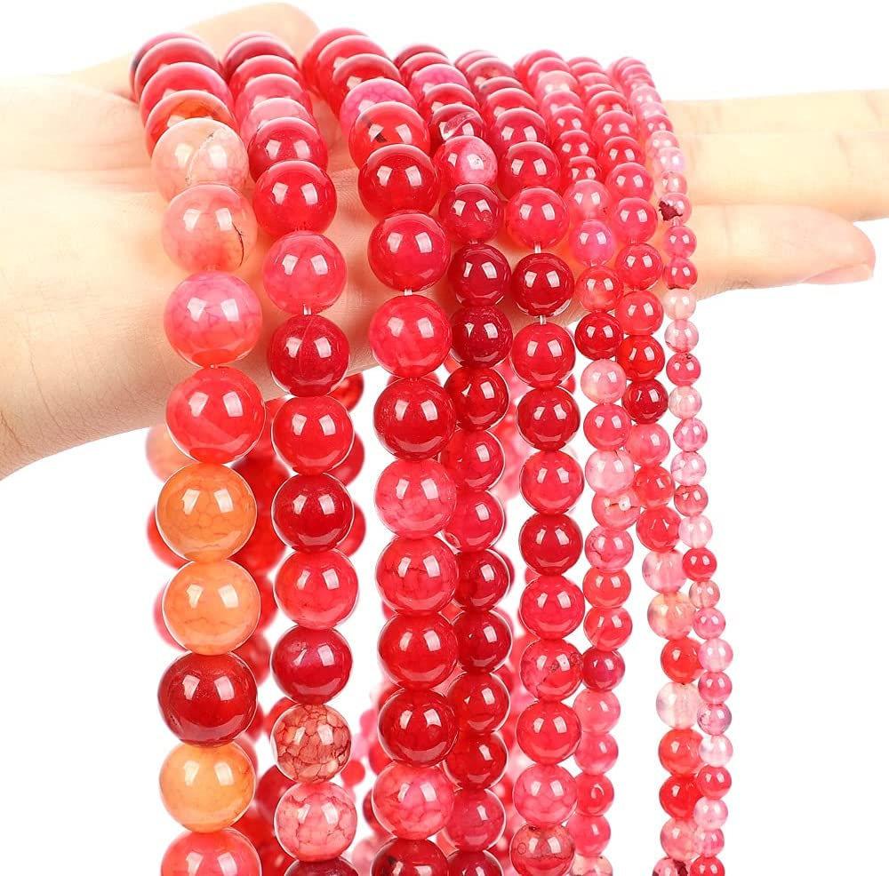 60Pcs Now free shipping 6mm Natural Large-scale sale Stone Dragon Vein Beads Jew Agate Gemstone for