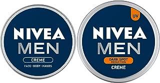 NIVEA MEN Creme, Face Body & Hands, Moisturizing Cream, 30ml and NIVEA MEN Cream, Dark Spot Reduction, 75ml