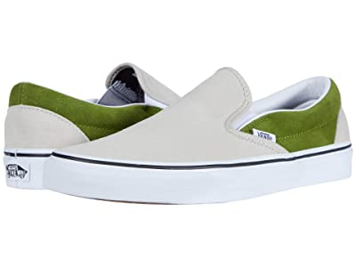 Vans Classic Slip-Ontm ((Suede) Rainy Day/Calla Green) Skate Shoes