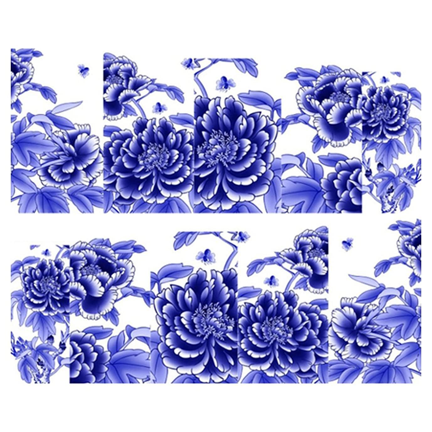 レギュラーおしゃれな無数のCikuso 綺麗な花のネイルアート 水転写プリント ネイルシール ステッカー装飾(SY1619)