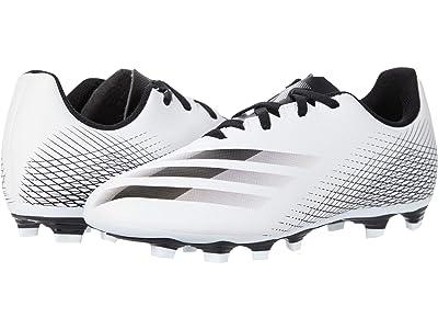 adidas Kids X Ghosted.4 FxG J Soccer (Little Kid/Big Kid) (Footwear White/Core Black/Silver Metallic) Kids Shoes