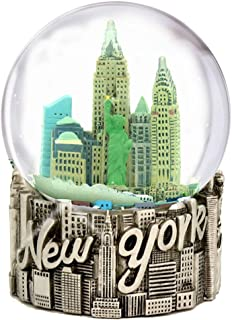 New York City Snow Globe 4.5 Inch, from Silver NYC Snow Globes Souvenirs