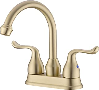 ICREEH Bathroom Faucet, 2 Handle Bathroom Sink Faucet, 4 inch Centerset Bathroom Faucets 2 Holes Lavatory F...