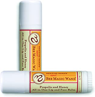 Medicine Mama's Apothecary Sweet Bee Magic Wand, All In One Lip and Face Balm, .65 Ounce