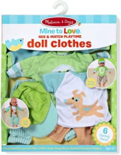 """Melissa & Doug Mine to Love Mix & Match Playtime Doll Clothes for 12""""-18"""" Unisex Dolls (6 Pieces, Great Gift for Girls and Boys - Best for 3, 4, 5 Year Olds and Up)"""
