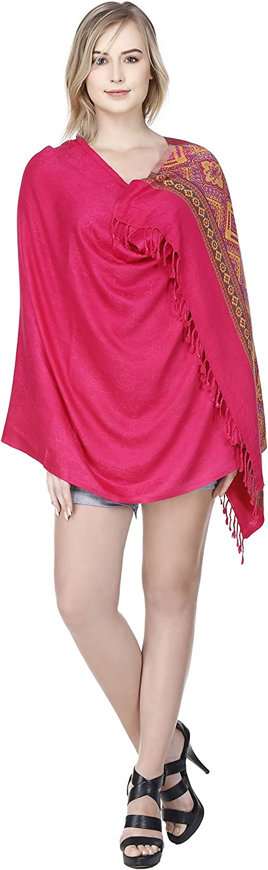 SKAVIJ Women's Viscose Scarf Soft Stylish Elegant Summer Shawl Red