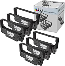 LD Compatible POS Ribbon Cartridge Replacement for Epson ERC-38B (Black, 6-Pack)