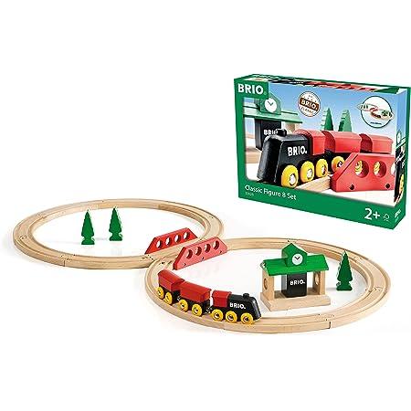 BRIO ( ブリオ ) クラシックレール 8の字セット [全22ピース] 対象年齢 2歳~ ( 電車 おもちゃ 木製 レール ) 33028