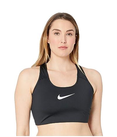 Nike Swoosh Bra (Sizes 1X-3X) (Black/White) Women