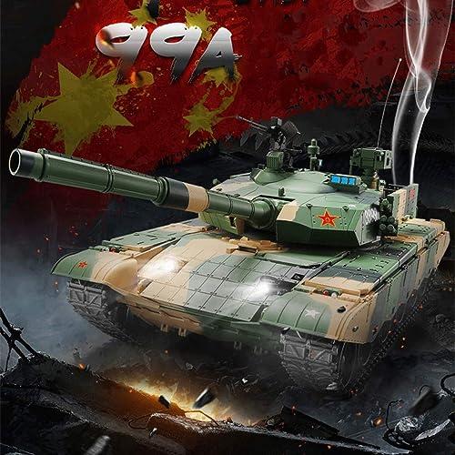 A la venta con descuento del 70%. AXJJ Tanques Tanques Tanques RC Tank 1 16 Escala 2.4GHz 99A Modelo de simulación de Control Remoto RC Tank con torreta Girar movido Barril  descuento online