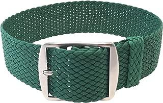 green perlon watch strap