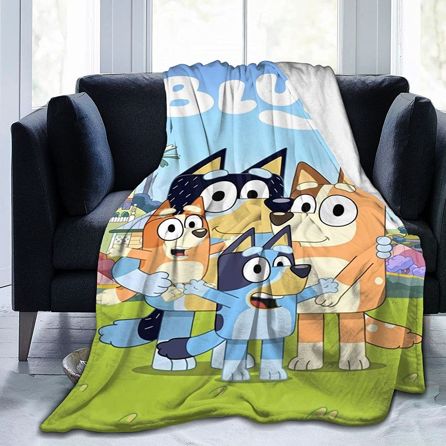2021 Bluey Blanket Soft Inventory cleanup selling sale Cozy Blankets Flannel Throw Rapid rise for
