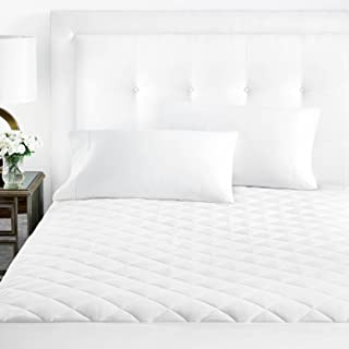 Sleep Restoration Fitted Microfiber Mattress Pad Cover - Plush Quilted Luxurious Mattress Topper - Queen