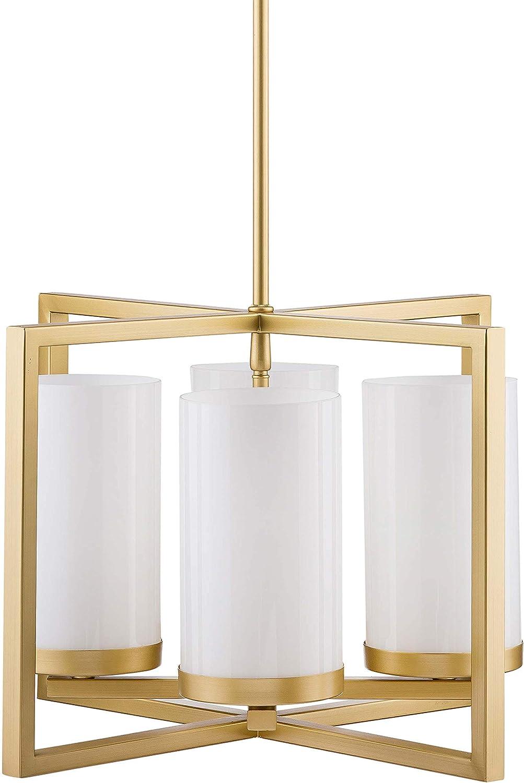 El Paso Mall Verona 4 Oklahoma City Mall Light Contemporary Intersecting Pendant - Brass Satin
