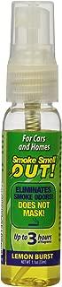 Smoke Smell Be-Gone! Smoke & Odors Eliminator for Home, Office & Car. Natural Non-Aerosol Air Freshener 1.1oz (33ml), Lemon Scent