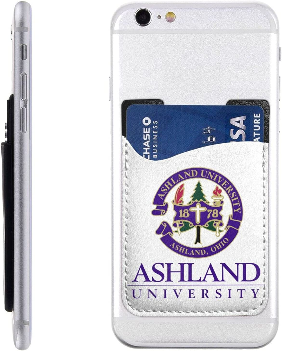 Ashland University Logo 3 Cell Detroit Mall Phone C Card List price Id Holder Stick-On