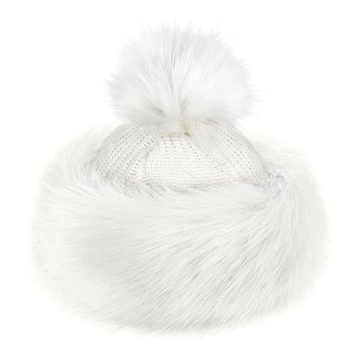 White Fur Hat: Amazon co uk