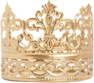 Gold Crown Cake Topper, Vintage Crown, Small Gold Wedding Cake Top, Princess Cake, The Queen of Crowns (Gold Ivy)