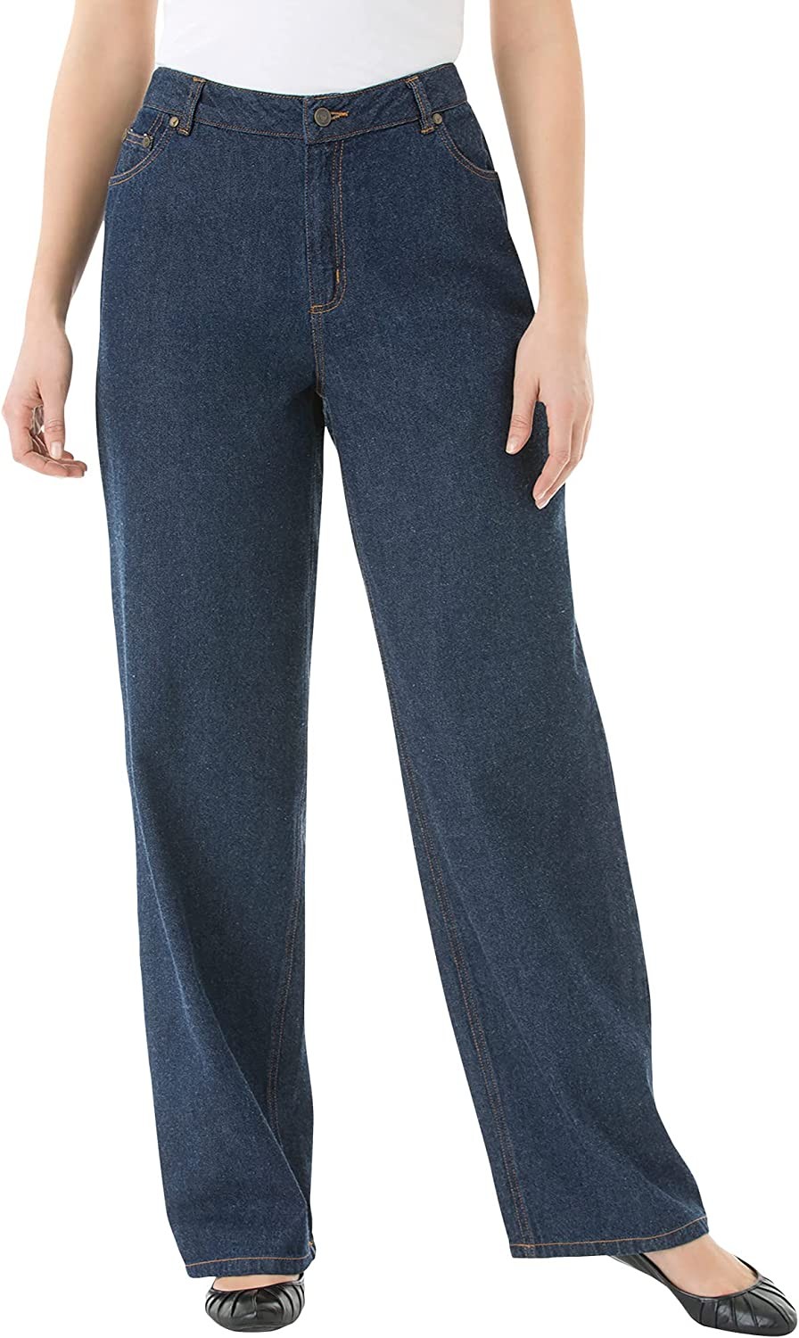 Woman Within Women's Plus Size Tall Relaxed-Fit 5-Pocket Jeans