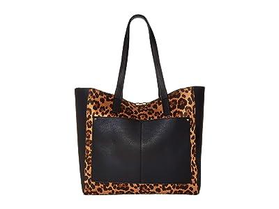 SOLE / SOCIETY Cora Tote (Black Leopard) Handbags