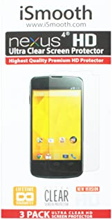 iSmooth 谷歌 Nexus 4 屏幕保护膜 - 零售包装 - 透明