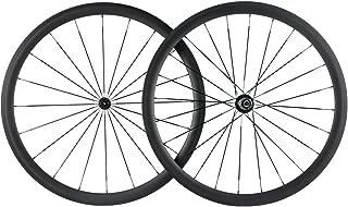 Superteam U Shape Bike Wheel Clincher 700C Carbon Wheelset 38/50/60/88 UD Matte 25 Width
