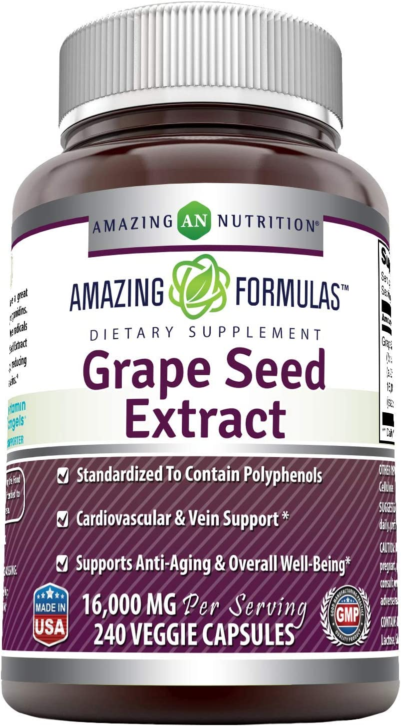 Max 56% OFF Amazing Formulas Outlet SALE Grapeseed Extract 16000 mg Per Serving 240 Vegg