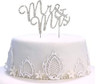 Mr & Mrs Cake Topper, Wedding Rhinestones Twinkle DIY Glitter Mr & Mrs Cake Decorating Mold Cake and Chocolate Decorating