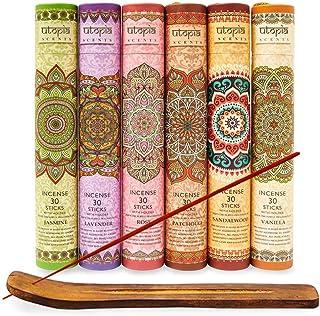 Karma Scents Premium Incense Sticks, Lavender, Sandalwood, Jasmine, Patchouli, Rose, Vanilla, Variety Gift Pack 180 Sticks...