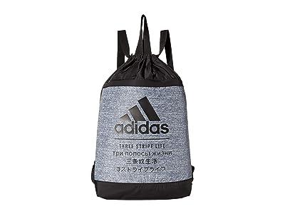 adidas Amplifier Blocked Sackpack (Black/Jersey Onix) Backpack Bags