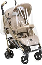 iCoo Comfort 139981 - Protector de lluvia para silla de paseo Pace, fácil instalación, aprturas laterales para ventilación, resistente, transparente