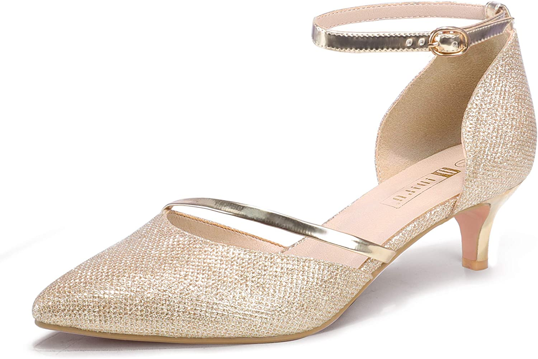 IDIFU Women IN2 Maxine Low Kitten Dress Heels Pumps Alternative Translated dealer Wedding Even